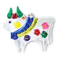 figuur van blik koe wit