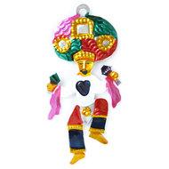 figuur van blik mexicaanse danser