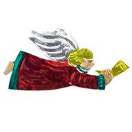 figuur van blik engel trompet rood