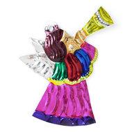 figuur van blik engel kind trompet roze