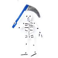 magneetje van blik skelet zeis blauw