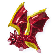 magneetje van blik vleermuis rood