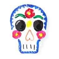 magneetje van blik schedel blauw