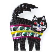 magneetje van blik kat zwart