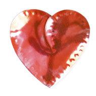 magneetje van blik hart lichtrood