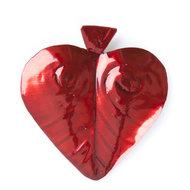 magneetje van blik hart donkerrood